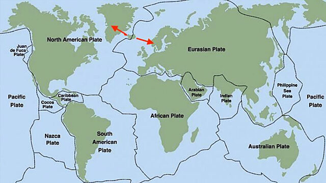 World tectonic plate map