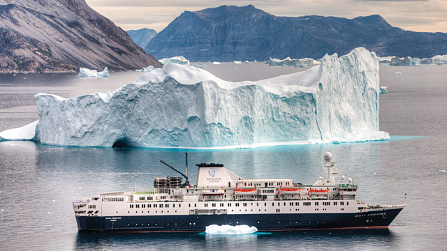 Ocean Endeavour In Greenland