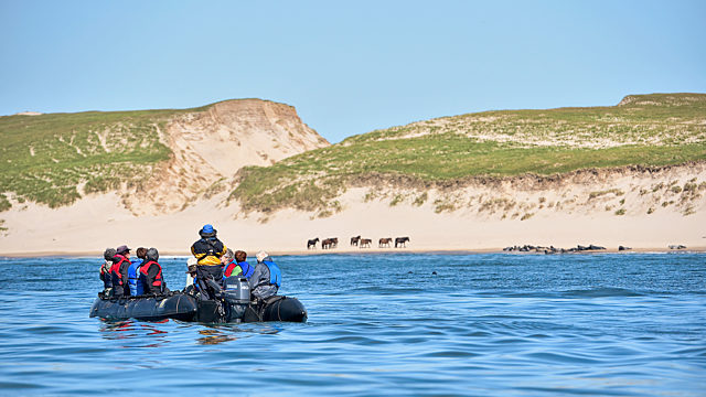 People In Zodiac Sable Island