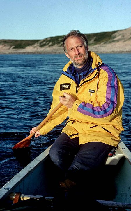 David Pelly canoeing Thelon River 1992