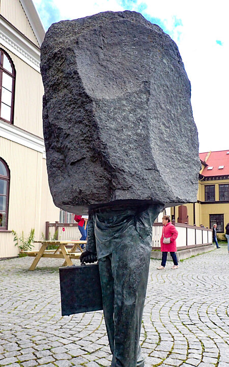 Iceland unknown bureaucrat sculpture