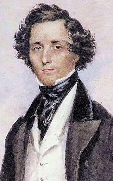 Portrait of Felix Mendelssohn Bartholdy by James Warren Childe 1839