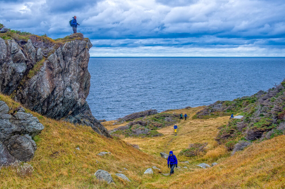 Hiking at Trout River Newfoundland