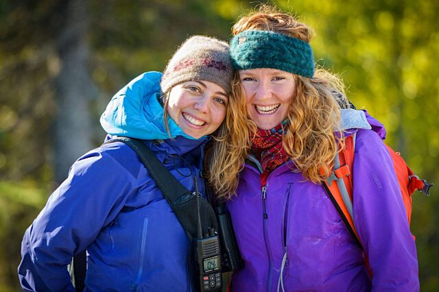 Brittany and Laura wearing Qiviut