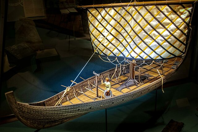 Model Viking ship