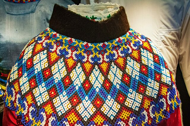 Nuuk National Museum exhibit traditional Greenlandic beading