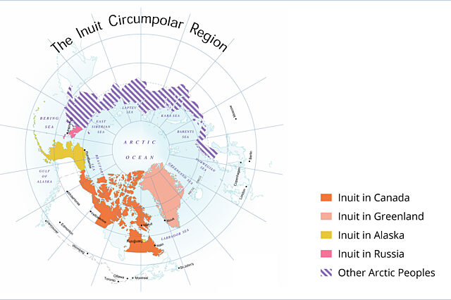 Map of the inuit circumpolar region