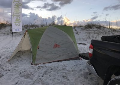 Peter's Point - Tent Setup