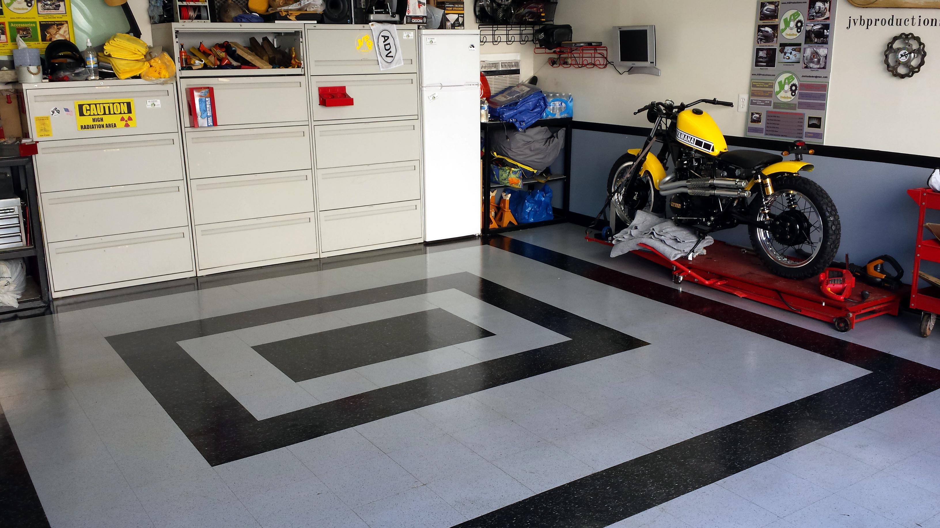 Good Layout Setup For Home Motorcycle Shop Garage Adventure Rider