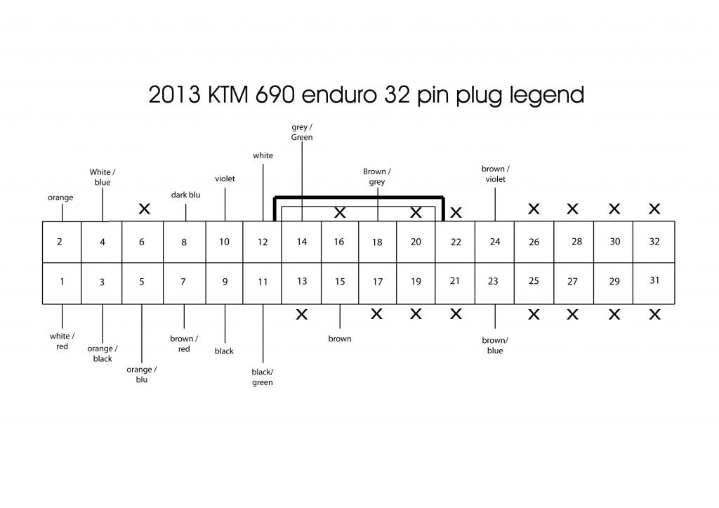 Ktm 690 Enduro R 2013  Circuit Plan