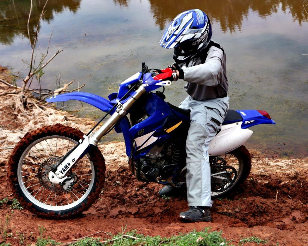 Riding with the kiddo, looking at a WR250F | Adventure Rider