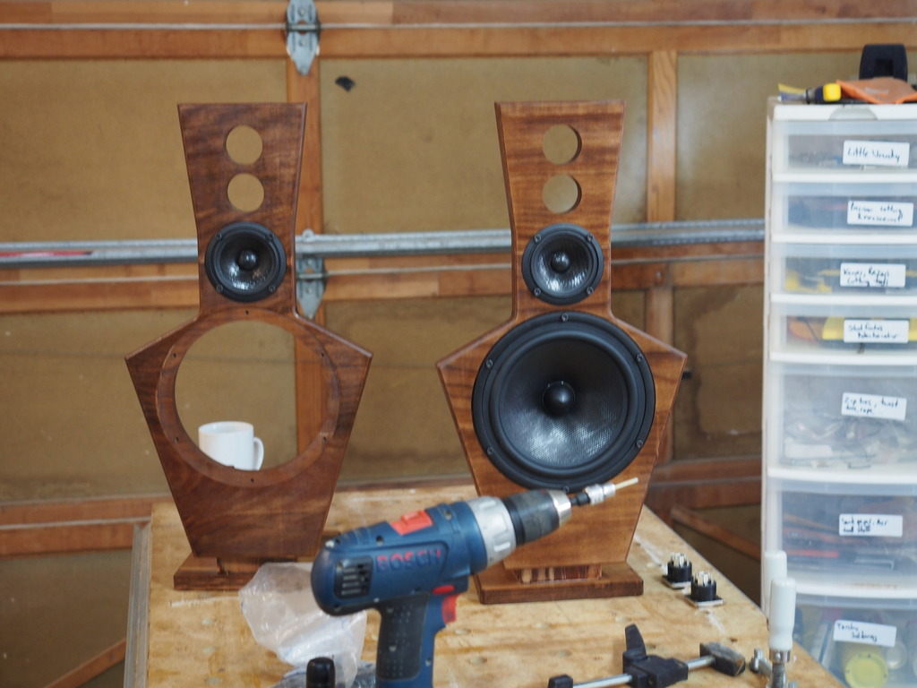 Built some dipole speakers out of Panzerholz and Wenge | Adventure Rider