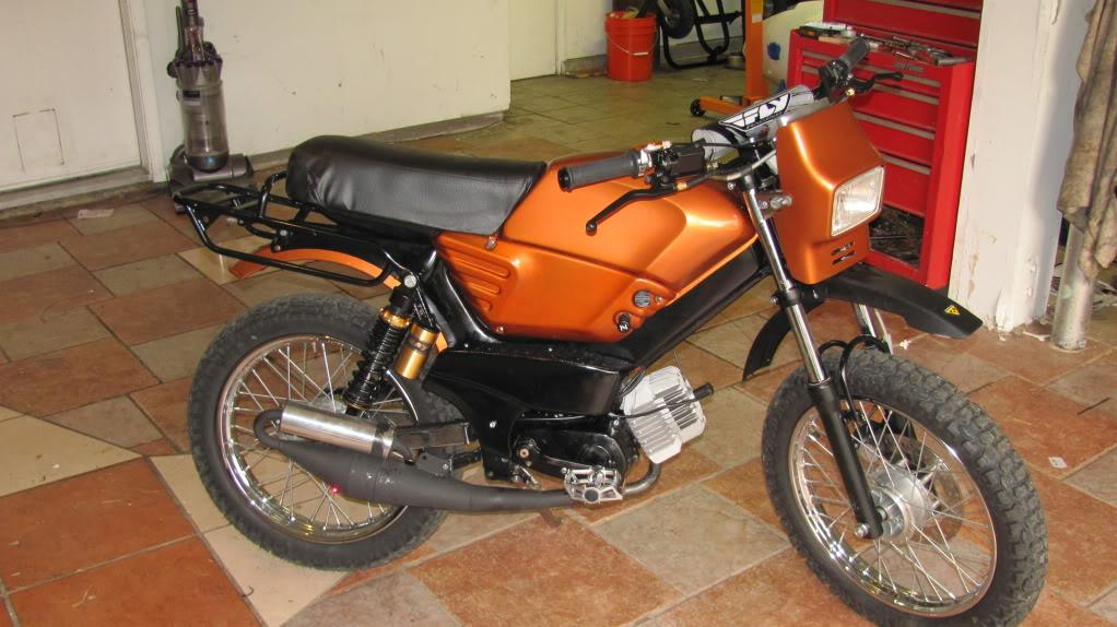 Tomos Fauxmos Build   Adventure Rider