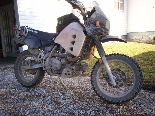 KLR 650 rear wheel on the front? | Adventure Rider