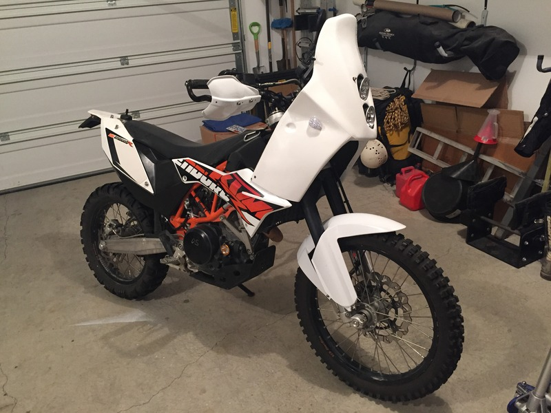 aabe2fb83f5 KTM 690 Enduro R - Fairings   Fuel Tanks - or Adventure Bike Build ...