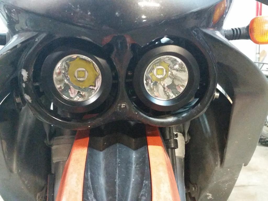 KTM 640 Adventure headlight upgrade   Adventure Rider