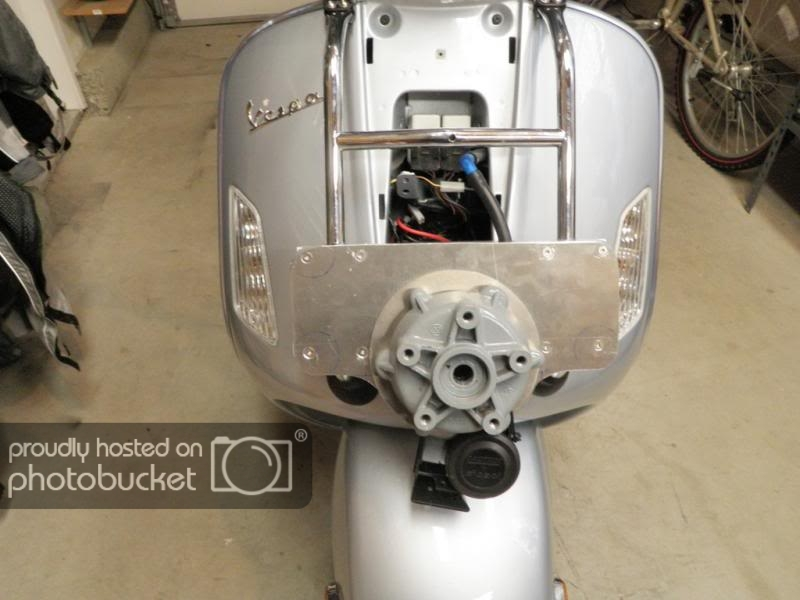 Spare tire carrier for the Vespa GTS step-by-step walk thru