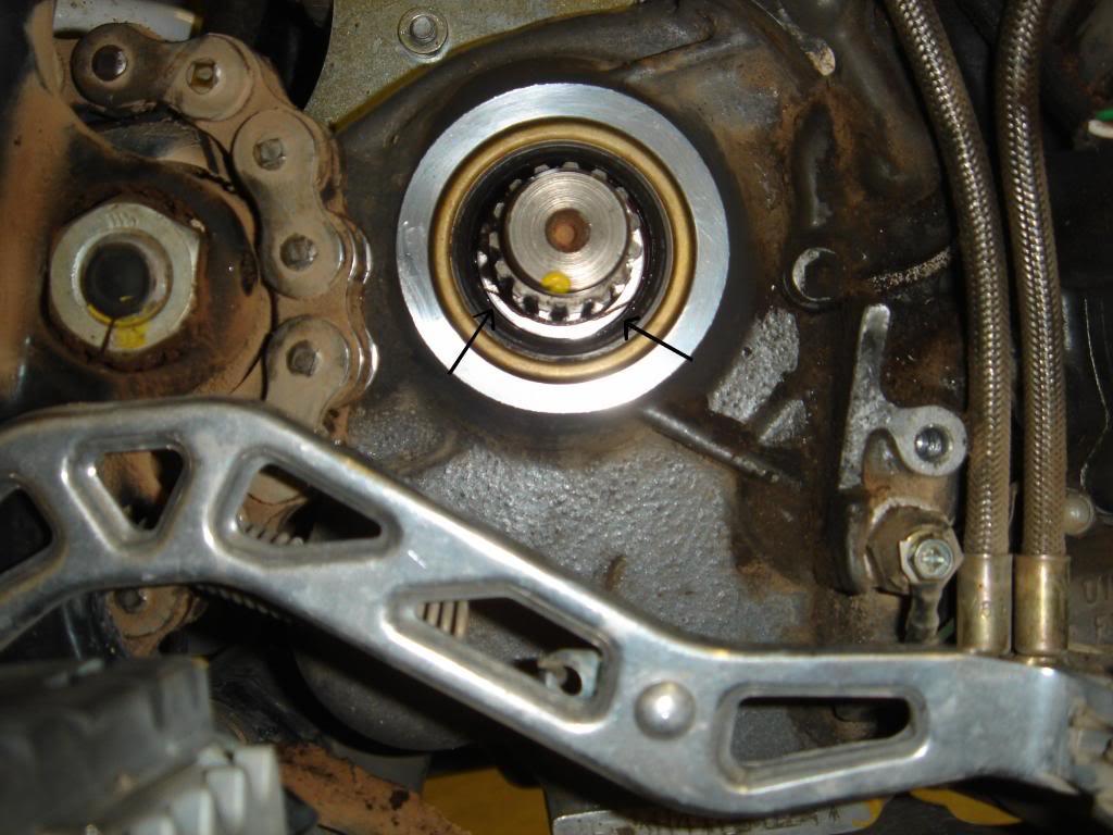 KTM 640 front sprocket leaking | Adventure Rider