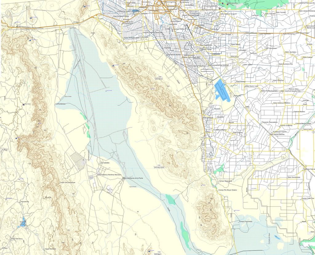 Mexico Topographic Map-E32 ideal for OFF-ROAD / GARMIN ...