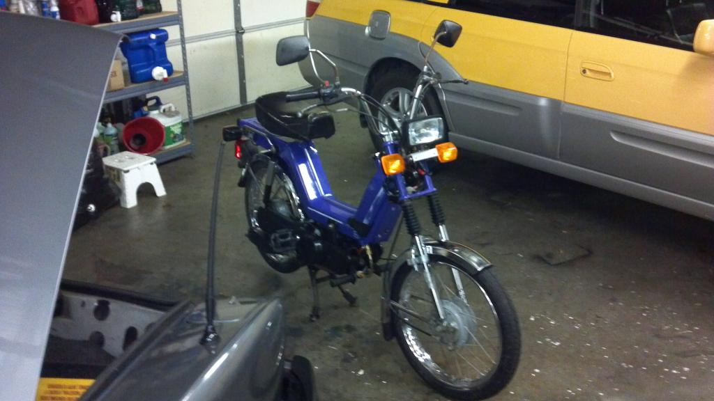 Kinetic TFR moped w/ 110cc build , first posting