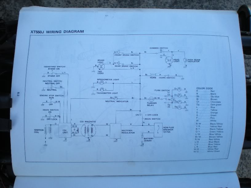 yamaha xt 550 wiring diagram the xt550 thread info  stories and mods inside  page 11  the xt550 thread info  stories and