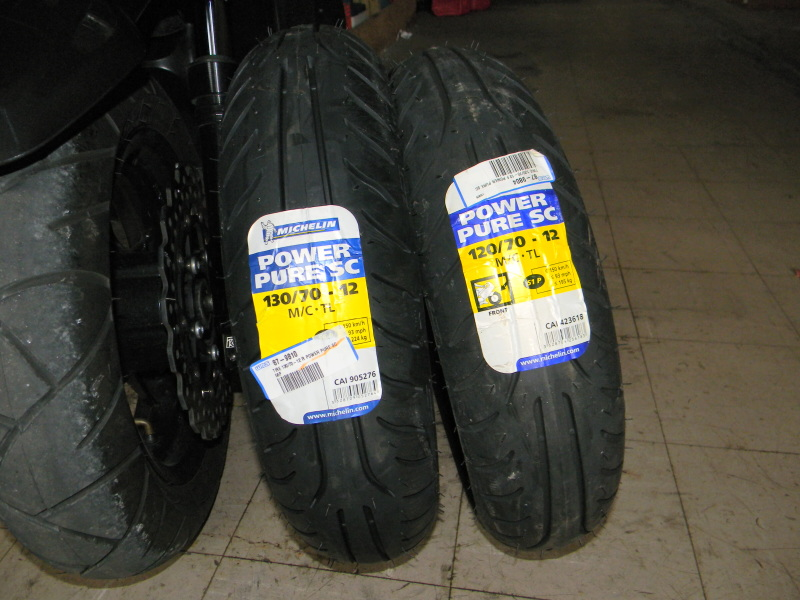 Michelin Power Pure 140//60-13 57L Rear Motorcycle Tyre
