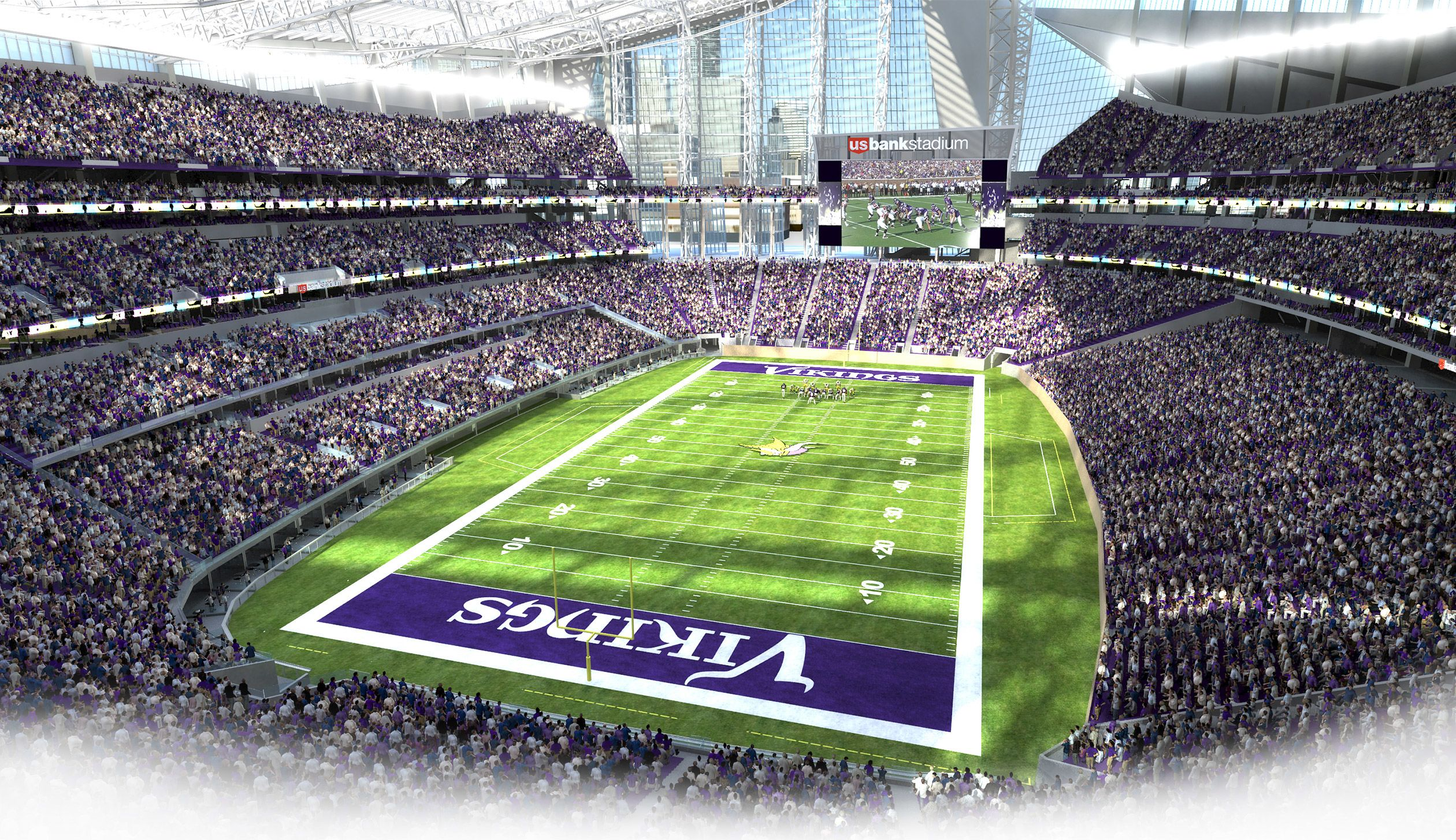 Take A Tour Of The Sponsors Of U S Bank Stadium Home Of