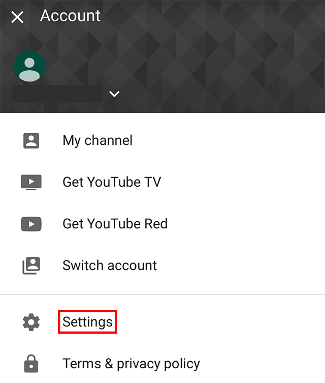 """The """"Settings"""" gear is highlighted."""