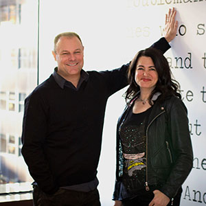 Photo of Lisa Topol and Derek Barnes