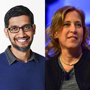 Photo of 34. Sundar Pichai, CEO, Google, Susan Wojcicki, CEO, YouTube