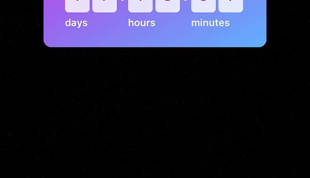 The option to resize, rotate and move the countdown sticker around is shown.