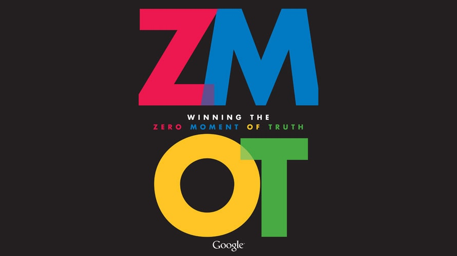 ZMOT is spelled out across the page; 'ZMOT' stands for Zero Moment of Truth