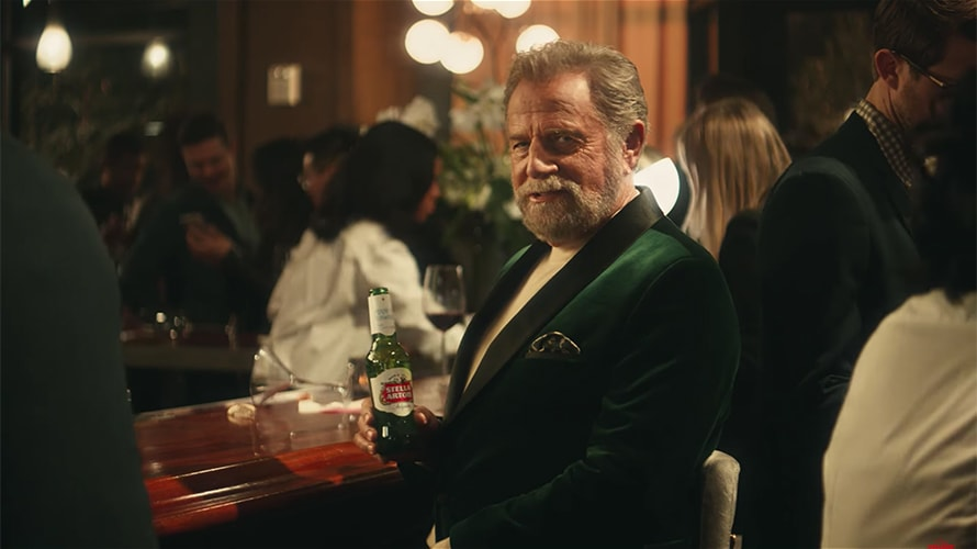 Jonathan Goldsmith, better known to most people as The Most Interesting Man in the World, is sitting at a bar drinking Stella Artois.