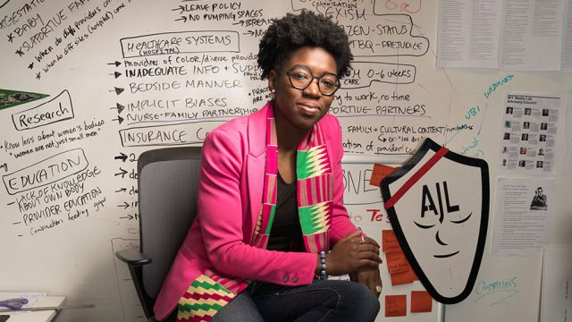 Photo of Joy Buolamwini, founder