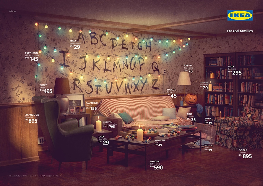 This Ikea setup resembles the living room in Stranger Things.