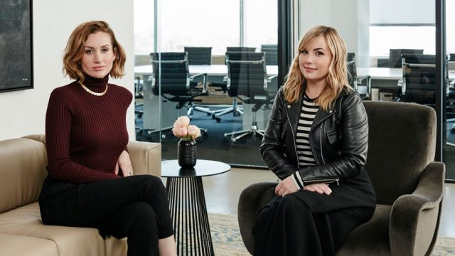 Photo of Hillary Kerr and Katherine Power
