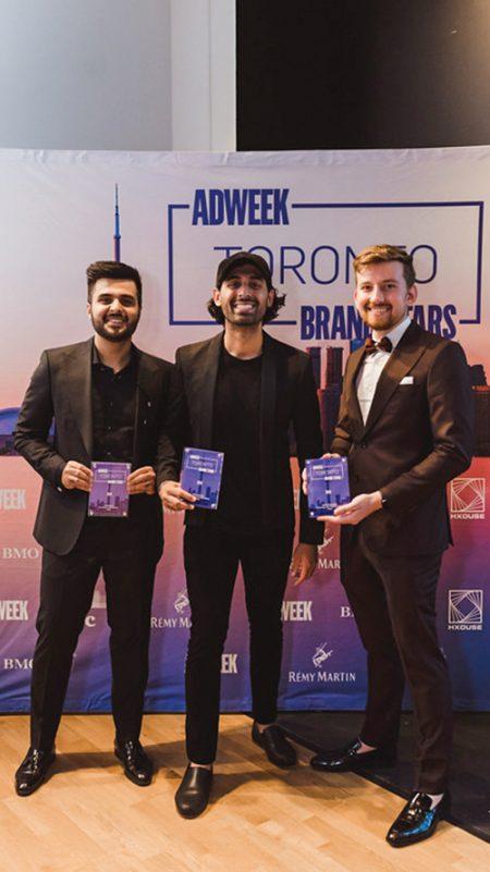 2019 Adweek Toronto Brand Stars honorees Sobi Walia, Karan Walia and Anton Mamonov