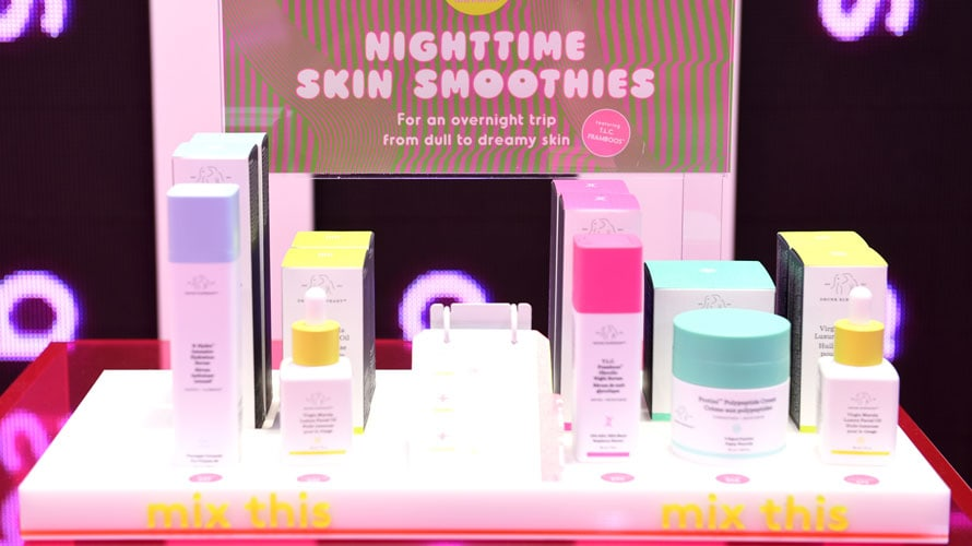 Skincare products from Drunk Elephant's House of Drunk pop-up