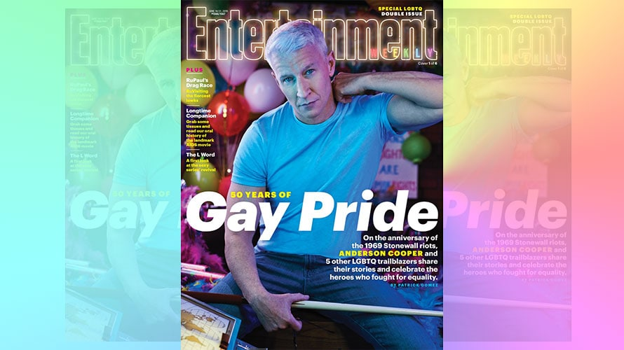 Anderson Cooper Entertainment Weekly gay pride cover 50th anniversary