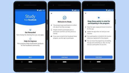 Screenshots for Facebook's Study program