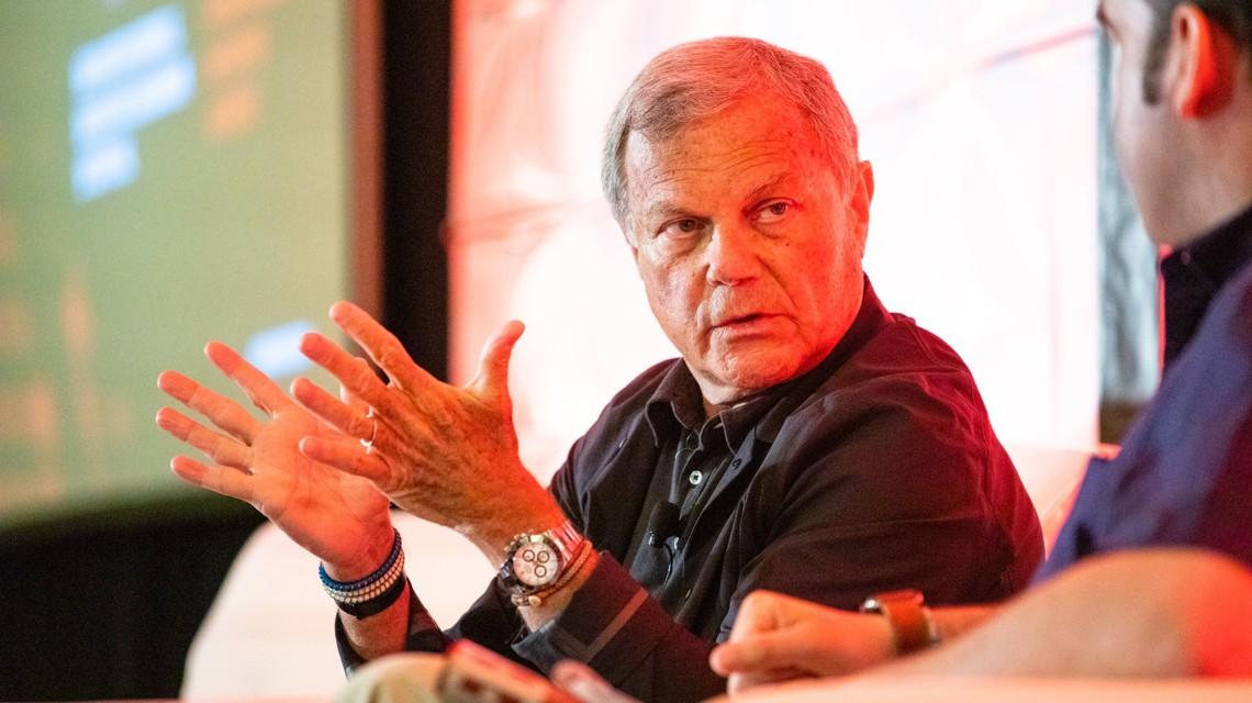 Photo of Martin Sorrell at Adweek NexTech