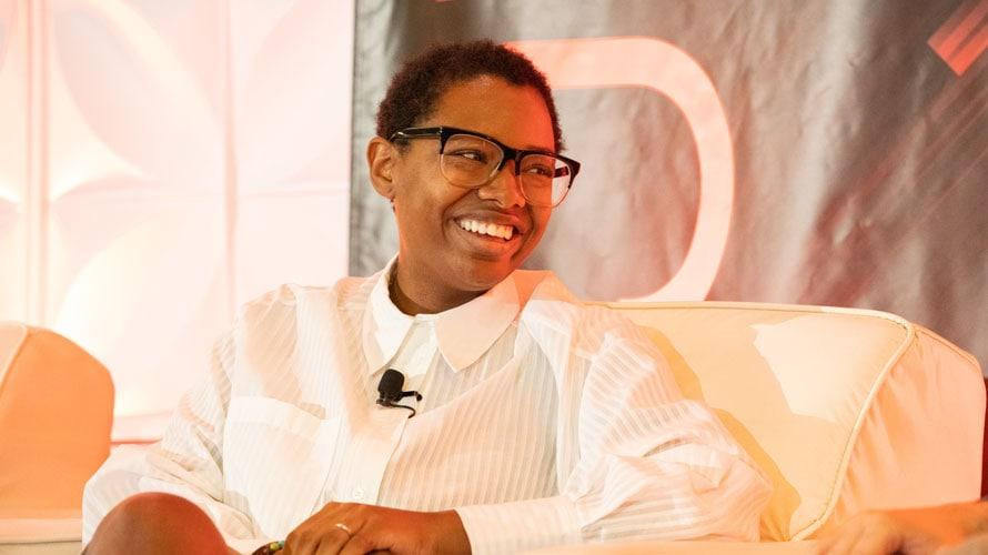 EA's Head of Global Marketing Intelligence, Belinda J. Smith speaking at Adweek Nextech 2019 conference
