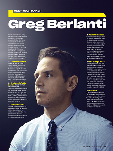 Entertainment Weekly page layout featuring Greg Berlanti.