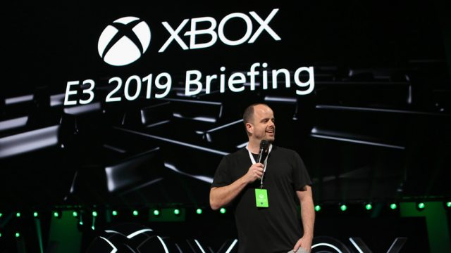 Xbox CMO Mike Nichols speaking at E3 2019 Briefing