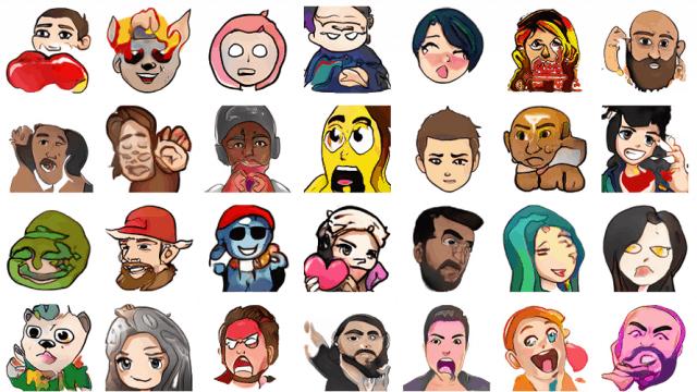 A group of GAN-created cartoon icons