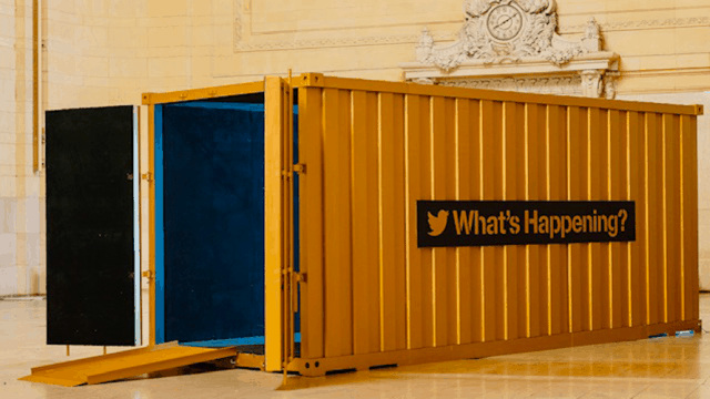 twitter shared studios video chat shipping container