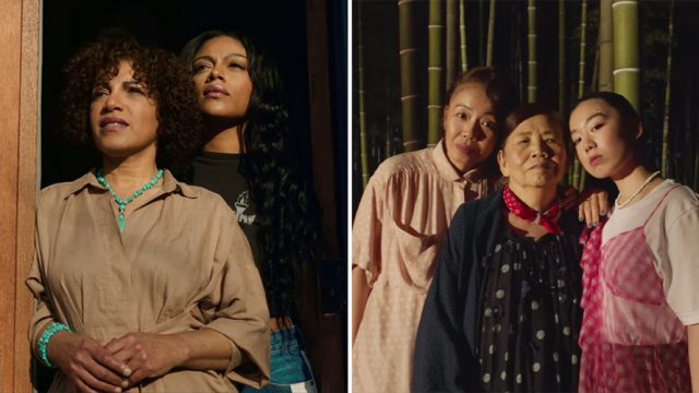 Portraits of women from two different families in SK-II Timelines video series about women expectations and aging