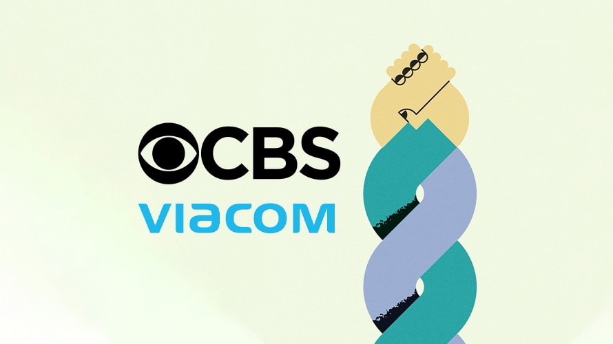 CBS logo, Viacom logo, arms intertwined