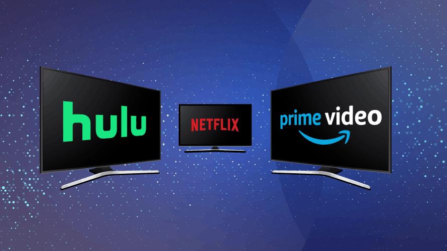 hulu netflix amazon prime video logos screens subscription ott services