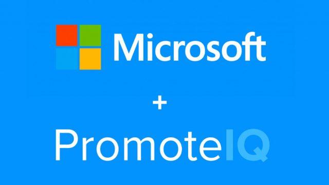 microsoft and promoteiq logos